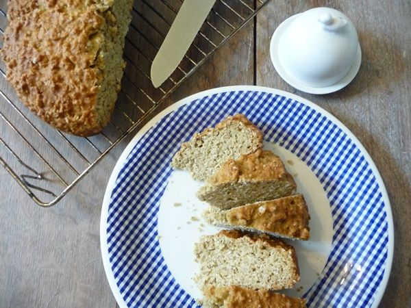 Austerity Oat Soda Bread // nope. dry and that weird baking soda ...