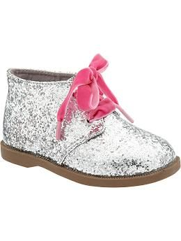Glitter Ankle Boots for Baby