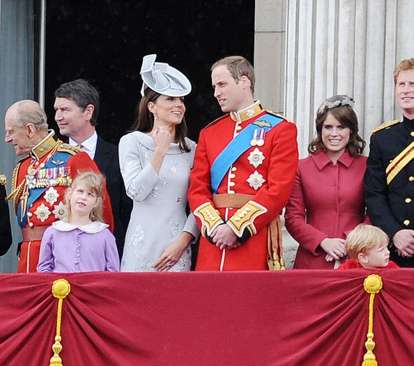 """Kate Middleton Photos - Saturday, June 16, 2012. Prince William Kate Middleton and Duchess of Cambridge at the """"Trooping the Colour Ceremony"""" as part of the Queen's birthday celebration.  . - Queen Elizabeth II and Duke of Edinburgh at the """"Trooping the Colour"""" birthday celebrations in London with aerial perfomance"""