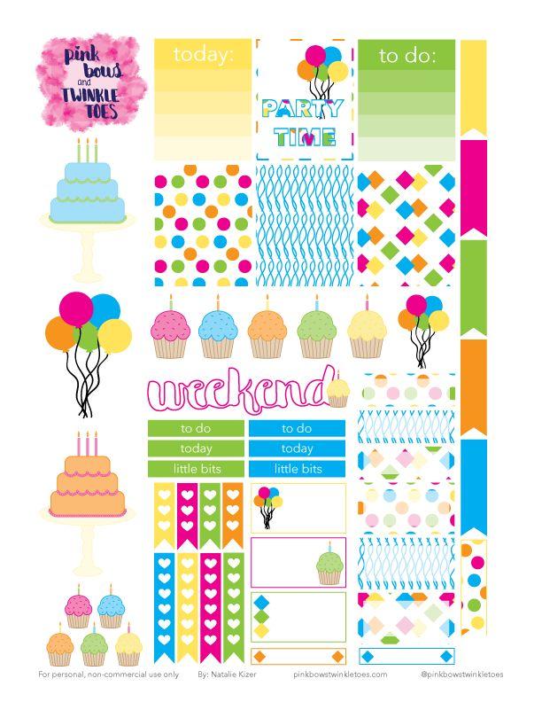 PBTT: Free Party Time Sticker Sheet