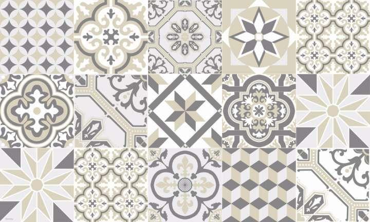 12 tapis effet carreaux de ciment