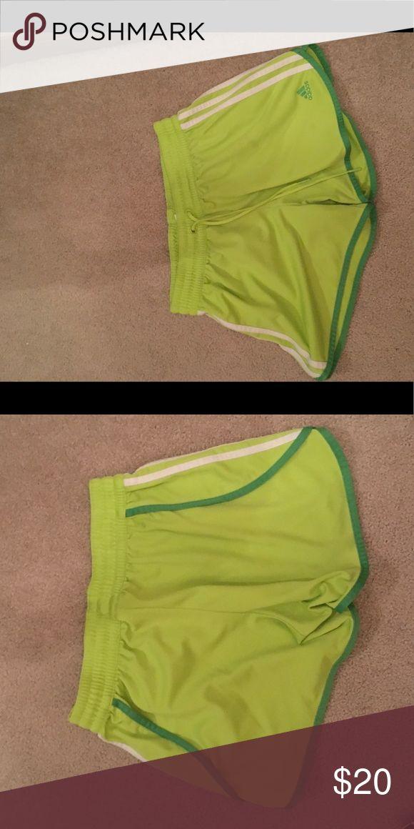 Adidas Medium lime green shorts Adidas Medium lime green shorts Adidas Shorts