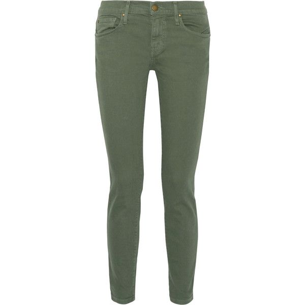 The Great The Skinny Skinny mid-rise jeans ($305) ❤ liked on Polyvore. Olive  Skinny JeansOlive Green ... - Best 25+ Olive Skinny Jeans Ideas On Pinterest Army Green Pants