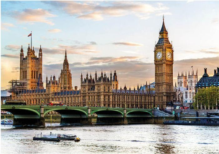 Puzzle DINO 500 dílků - Westminsterský palác, Londýn, Velká Británie