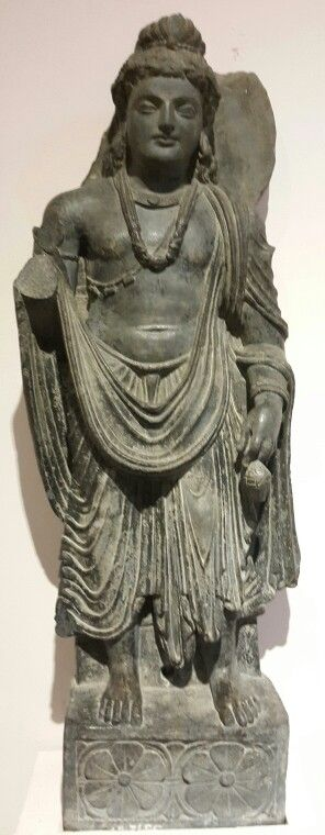 """Bodhisattva Maitrey. "" ( The Future Buddha). Gandhar School. 2nd Century BCE. National Museum, New Delhi, India."