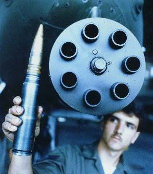 Now thats a bullet!  A-10 Warthog ammo...   30 mm cannon. Didnt know what to do with the gun so they built a plane around it. Outstanding.