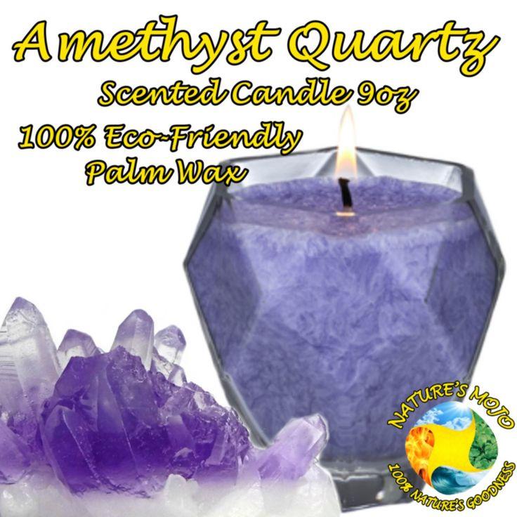 Amethyst Quartz Scented Candle 9oz