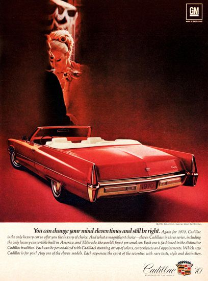 Cadillac DeVille Convertible 1970 Change Your Mind - Mad Men Art: The 1891-1970 Vintage Advertisement Art Collection