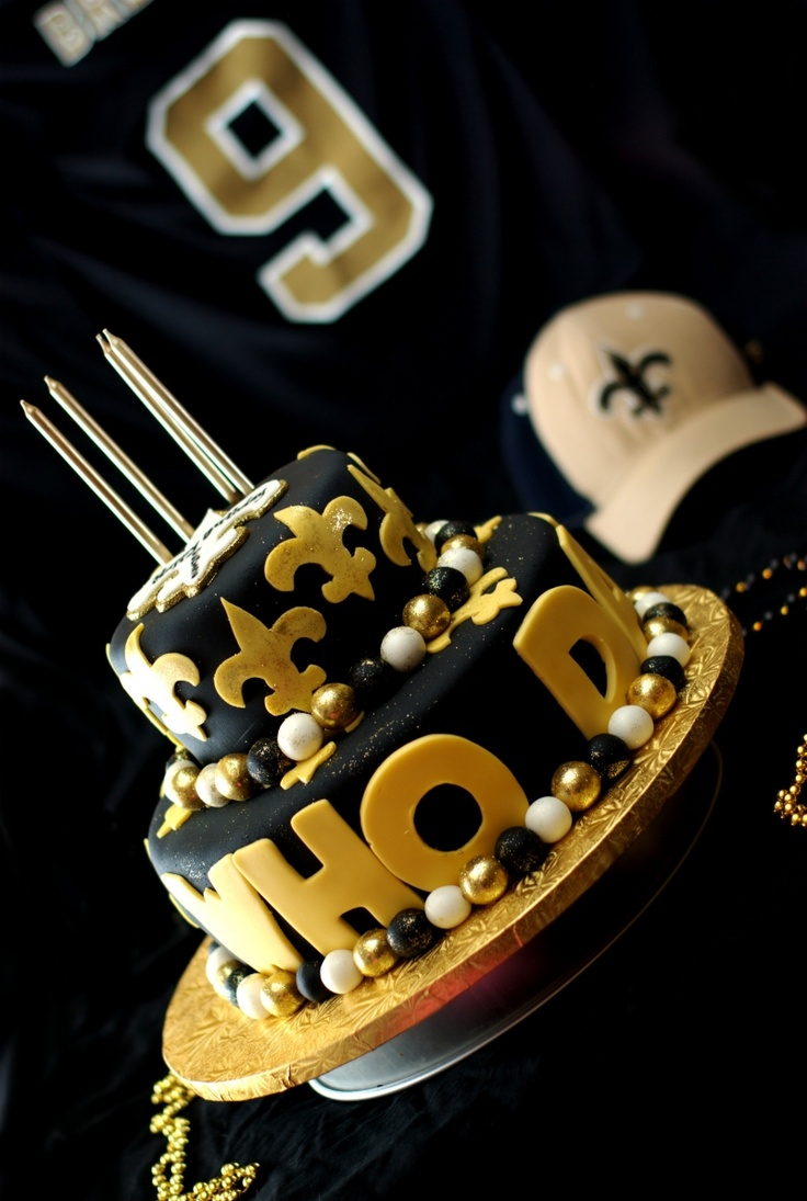 Saints cake: Whodat, Cakes Ideas, Who Dat, New Orleans Saint, Dat National, Saint Cakes, Parties Ideas, Grooms Cakes, Birthday Cakes