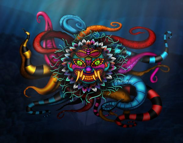 Ai Apaec, el dios decapitador by Jon Lozano, via Behance