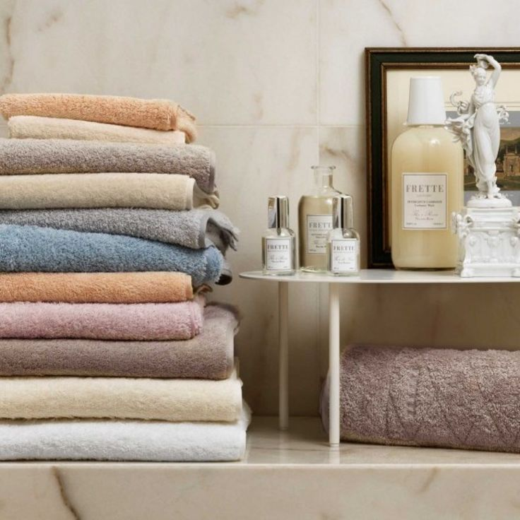 Unito by Frette, cotton terry towels with a sateen trim