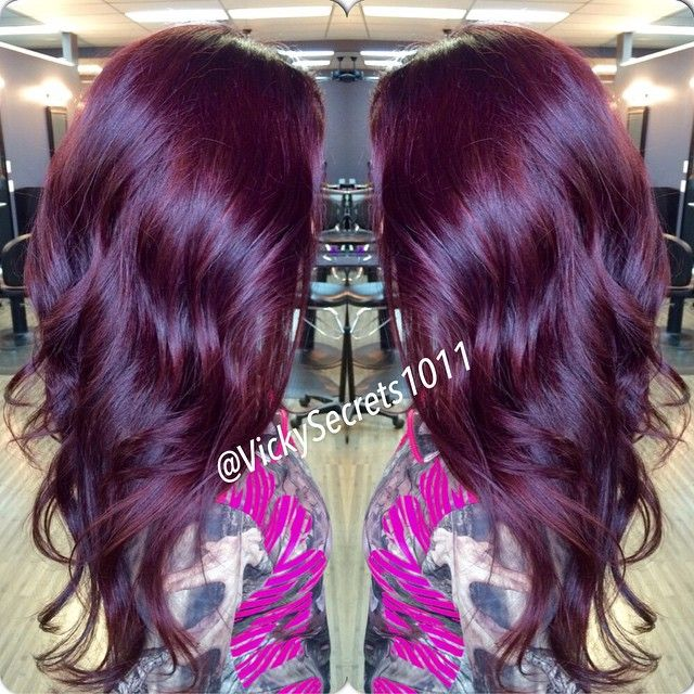 cheap 100 remy clip in hair extensions many color httpwww - Burgundy Violet Hair Color