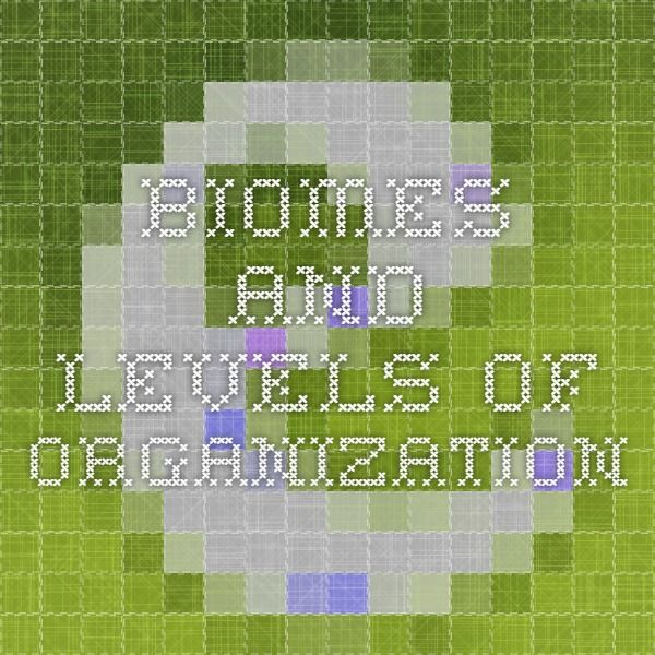Biomes and levels of organization