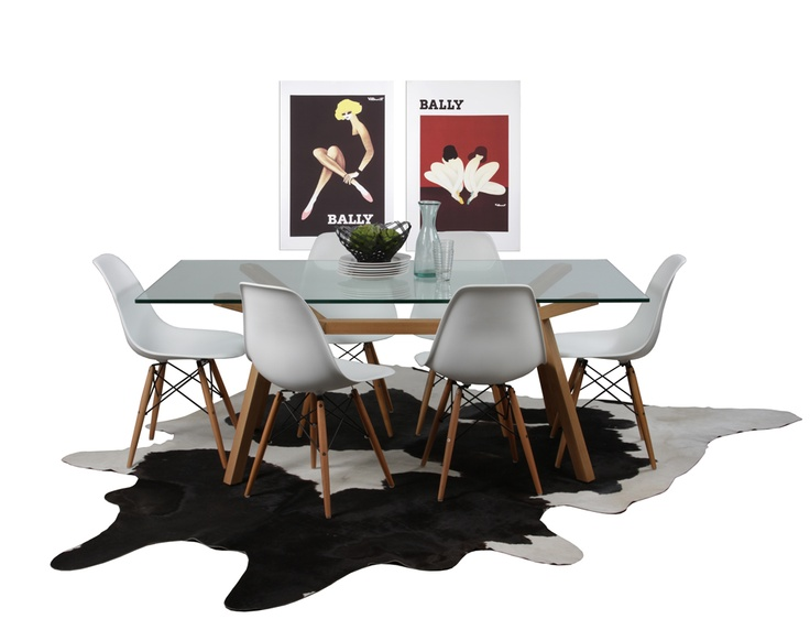 Contempo Dining Package Replica Eames DSW Plastic Chairs Original Sean Dix  Forte Dining Table