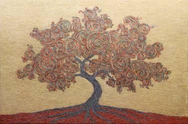 """Saatchi Art Artist Gian Luigi Delpin; Painting, """"whirl tree"""" #art"""
