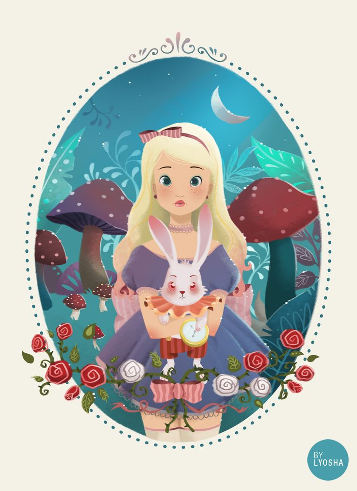 bonbon-bunny:      Guess it's time for a little Alice in Wonderland illustration!  Lyosha Svetlana  Visit my new facebook page! [here]