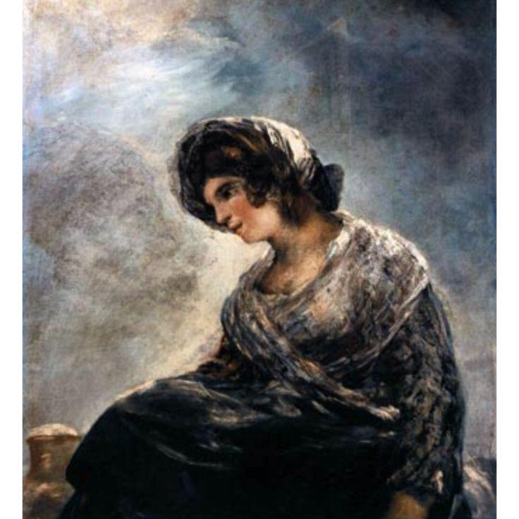 La lechera de Burdeos , es un cuadro considerado obra del pintor Francisco de Goya, y pintado hacia 1827,un año antes de su muerte y durante su exilio voluntario en Burdeos, Francia. Representa a una mujer, en una postura que parece indicar que va sentada en un asno o una mula;abajo a la izquierda aparece un cántaro, sobre cuya panza aparece incisa la firma de Goya. Todo ello ha hecho suponer que se trata de la representación o recreación de una vendedora o repartidora de leche.