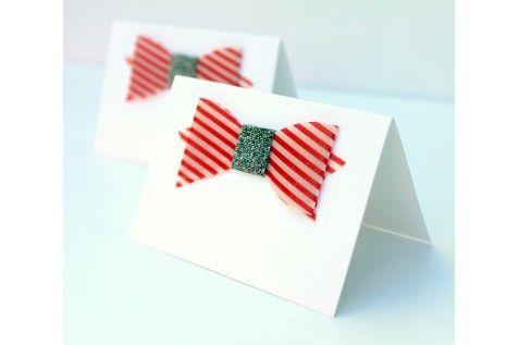 Cartes de placement - noeud papillon