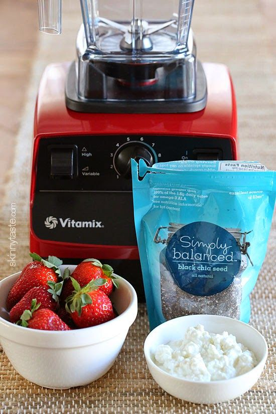 Roasted Strawberry Protein Smoothie and a Vitamix Giveaway | Skinnytaste