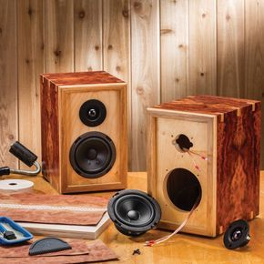 DIY Speaker Kit Build your own custom speaker cabinets to blend in with your decor, or to stand out from the crowd! #speakerkit #diyspeakers #musicman
