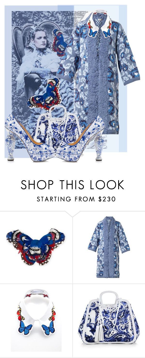 """""""Cerulian"""" by incantare ❤ liked on Polyvore featuring MAISON MICHEL PARIS, Tak.Ori, VIVETTA, Ralph Lauren Collection and Charlotte Olympia"""