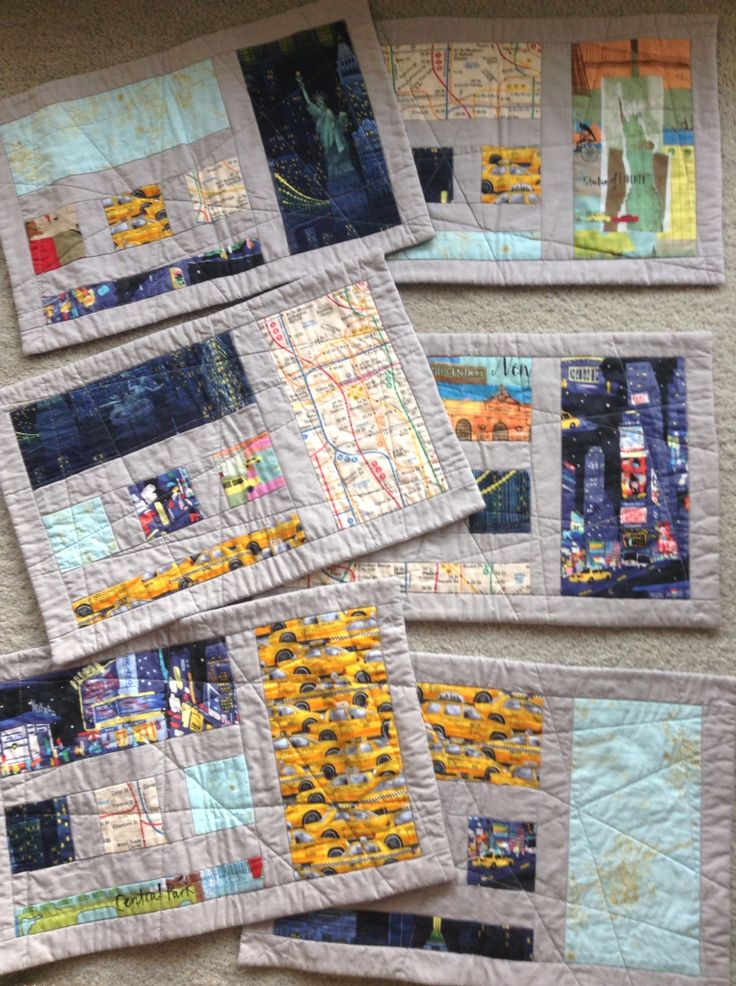 Placemats made from fabric bought from City Quilter in NY