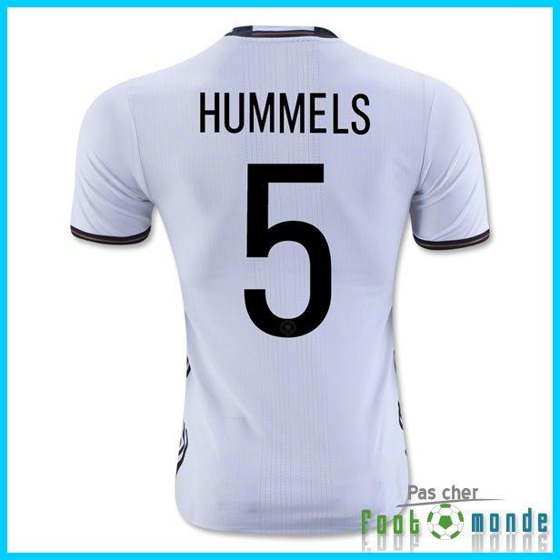 Authentique Nouveau Maillot Allemagne Euro 2016 HUMMELS 5 Domicile