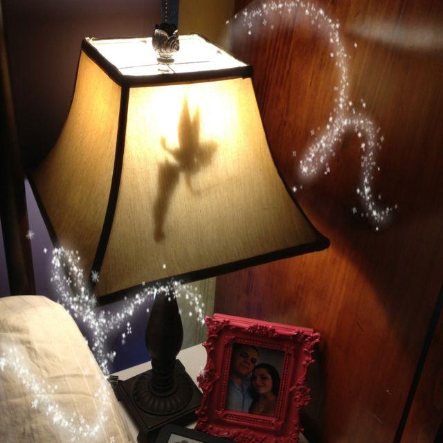 DIY silhouette lamp shade. Tinkerbelle.