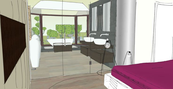 Schlafzimmer bad hinter glas loft wohnung