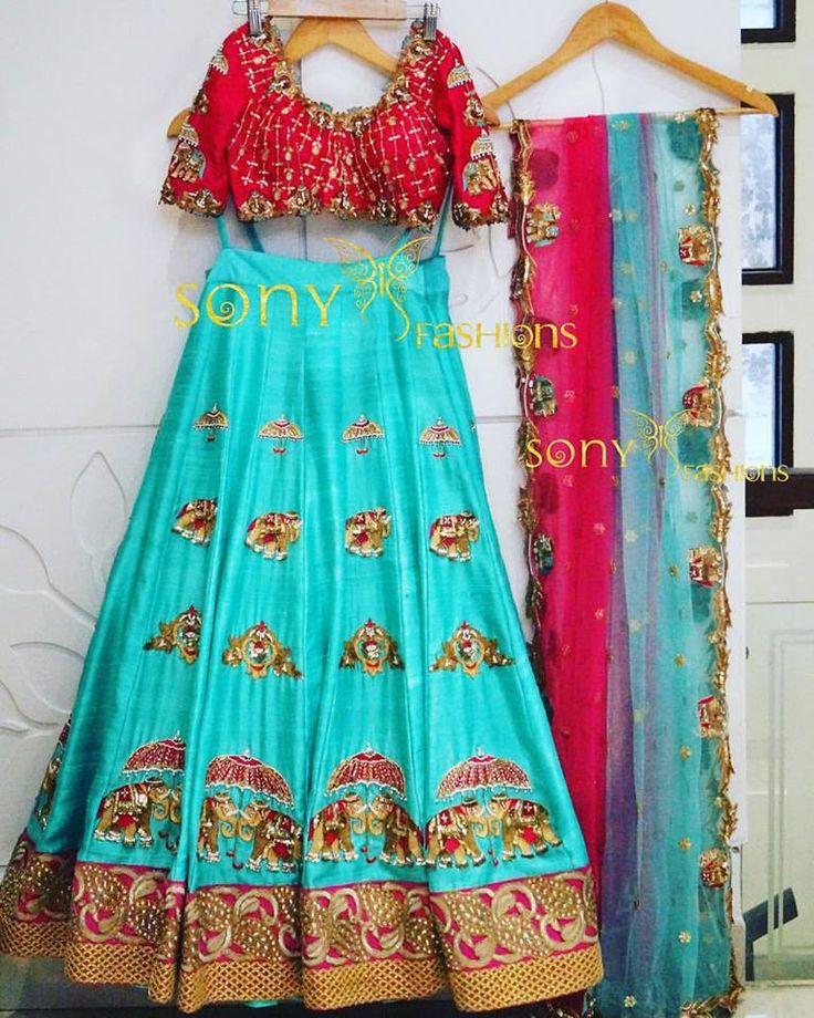 Designer Half Saree by Sony Reddy – PinkVilla.in