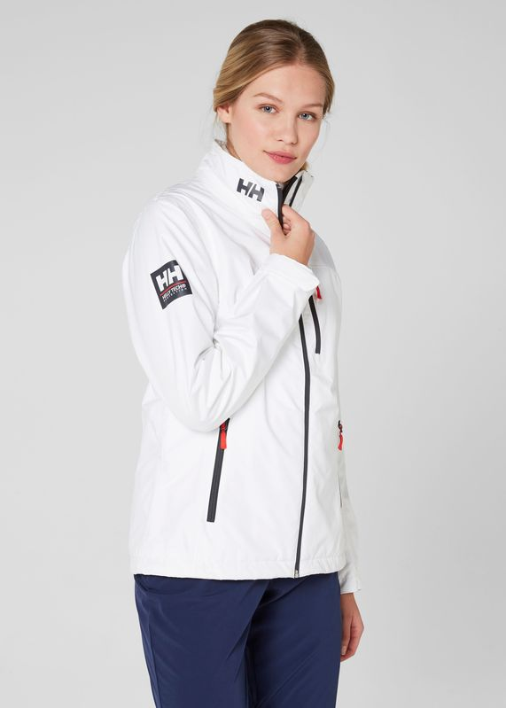 W Crew Jacket by Helly Hansen. Shop it at mallofnorway.com! A versatile jacket for women who want the protection and comfort of a sailing jacket with a design that looks great on land. #hellyhansen #allthingsnorwegian #mallofnorway #norway