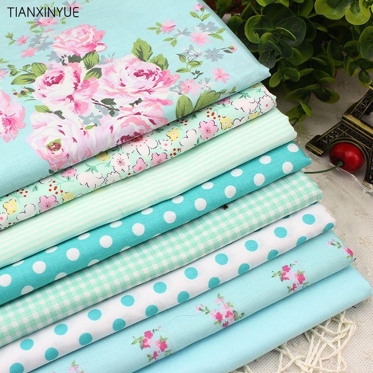 8 PCS 40cmx50cm Victoria set flower Printed cotton fabric for quilting patchwork tecido tela clothing bedding tissus