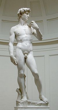 David is a masterpiece of Renaissance sculpture created between 1501 and 1504, by the Italian artist Michelangelo. Accademia di Belle Arti in Florence