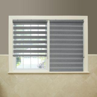 Shop For Aurora Home Premium Fabric Light Grey Sunshut Duo
