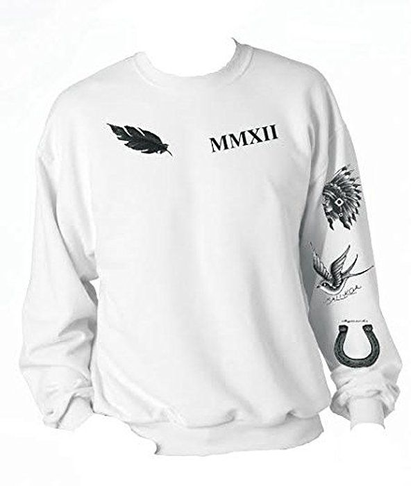 Allntrends Calum Hood Sweatshirt Tattoos 5 Seconds Of Summer (Medium)