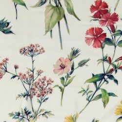 Vevet viskose natur med blomster