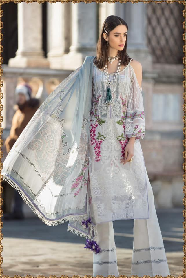 abd1ae724a Sana Safinaz Luxury Lawn'19, 3 Piece Unstitched Collection. Visit:  www.ibaasdesigner.com Contact: 011-41088377 #Sanasafi… | Salwar Suit Online  Shopping in ...