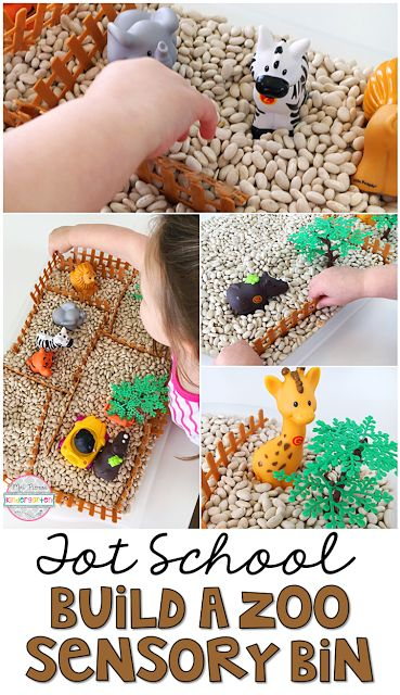 This build a zoo sensory bin was super engaging and encouraged lots of pretend play. Perfect for tot school, preschool, or the kindergarten classroom.