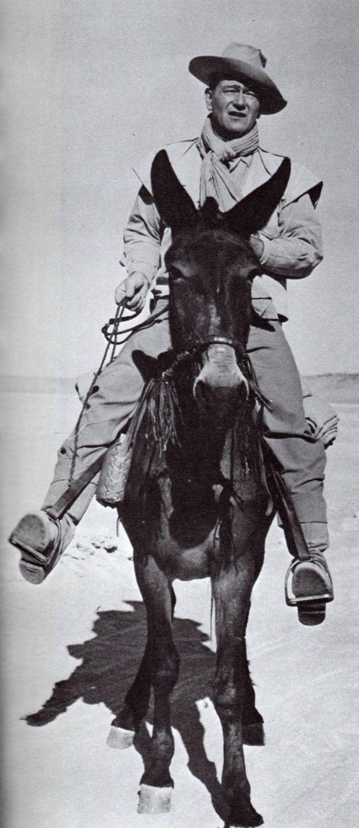 John Wayne - Legend of the Lost, 1957 Duke riding a mule