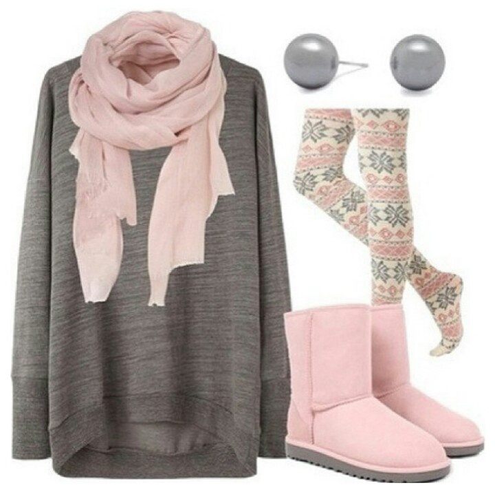 Pink and grey!