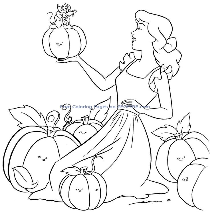 54 Best Cinderella Disney Coloring Pages Images On