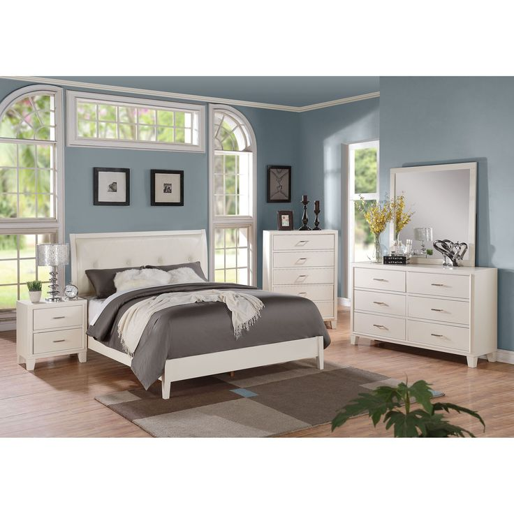 marble top bedroom furniture%0A Acme Furniture Tyler  piece Cream and White Bedroom Set  California King