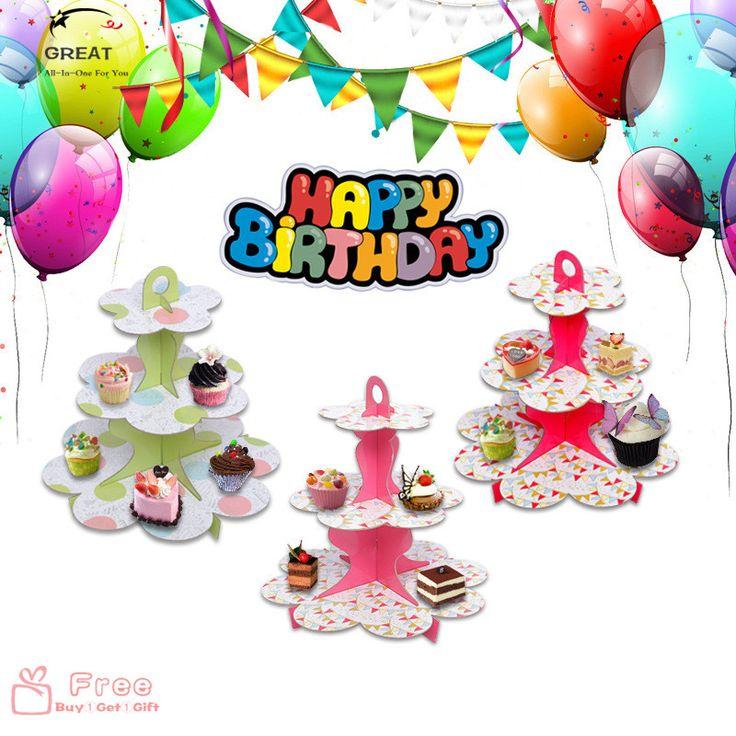 DIY 1 Set 12Styles Cartoon Dot Birthday Party Decoration Cardboard Cupcake Stand Dessert Folded Plane Hold 24 cupcakes Candy