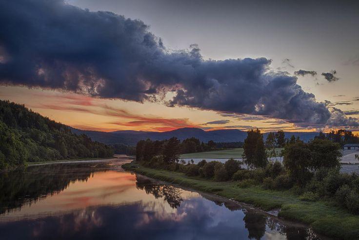 Evening in Lågen by John Einar Sandvand on 500px