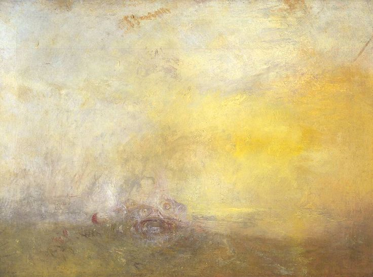 Sunrise with Sea Monsters by Joseph Mallord William Turner • c. 1845 • oil on canvas • Tate Britain
