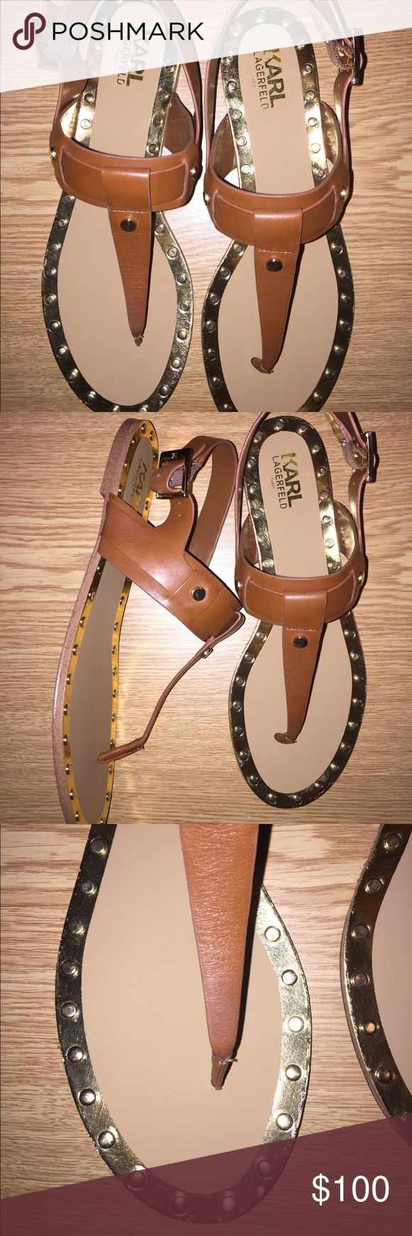 KARL LAGERFELD SANDALS Brand new. Never worn. Comfortable and stylish. Karl Lagerfeld Shoes Sandals