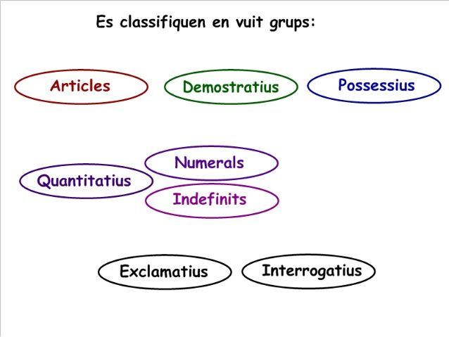 Categories gramaticals. els determinants