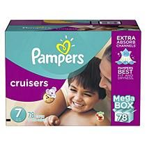 Pampers Cruisers Diapers, Size 7 (78 ct.)
