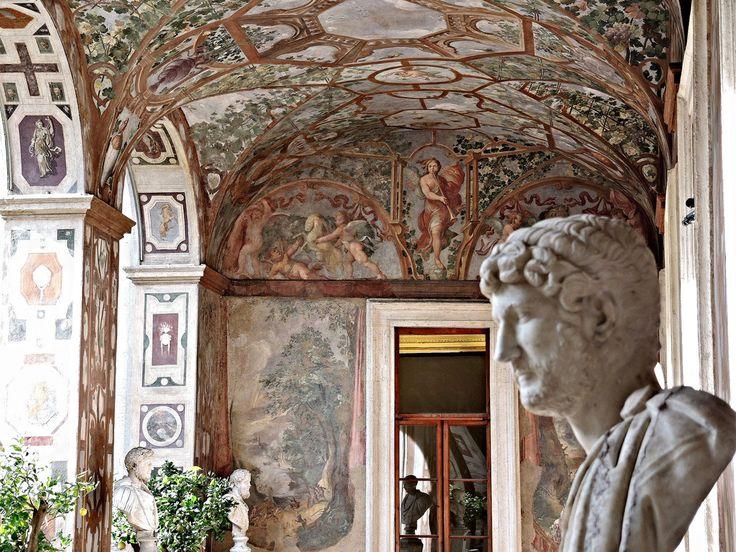 Loggia dipinta con busti di Imperatori   Palazzo Altemps  Loggia settentrionale