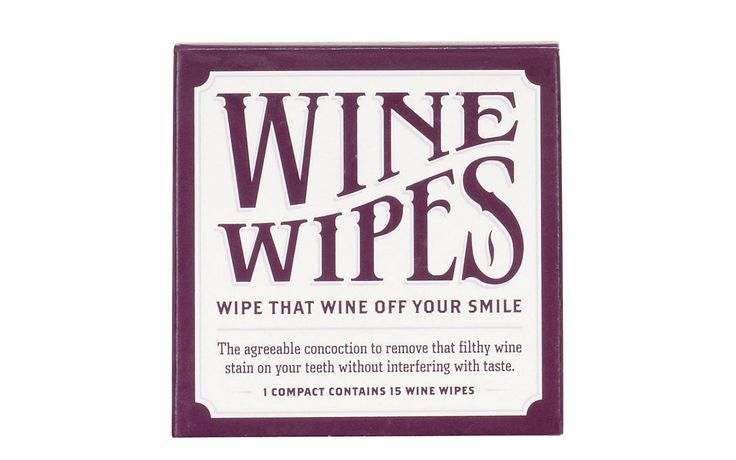 Wine Teeth Wipes | Be the good friend at this year's gift exchange. Read on.